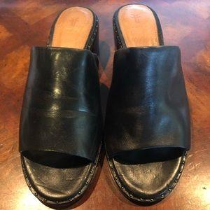 Frye women's black leather mules sz 6